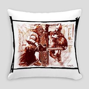 Gladiators duel Everyday Pillow
