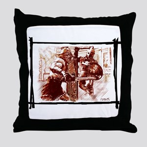 Gladiators duel Throw Pillow