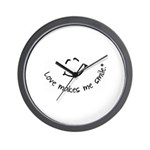 Love Makes Me Smile Wall Clock