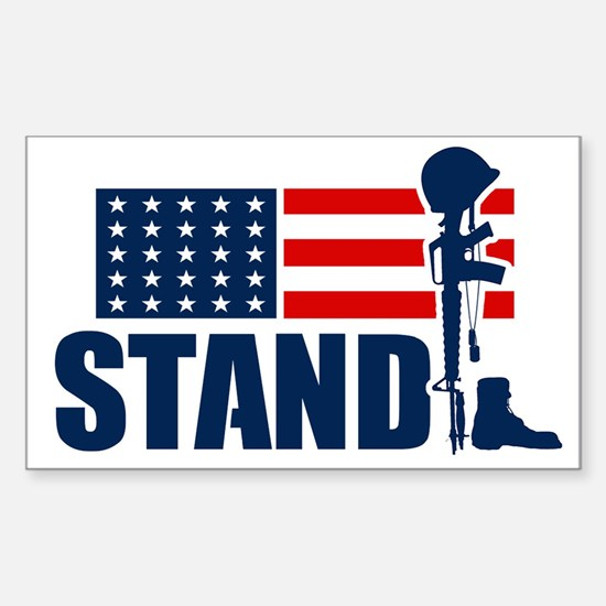 Stand! Sticker (Rectangle)