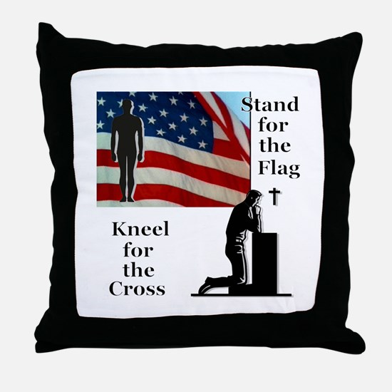 Stand for the Flag Throw Pillow
