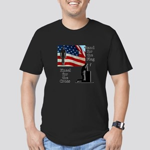 Stand for the Flag Men's Fitted T-Shirt (dark)