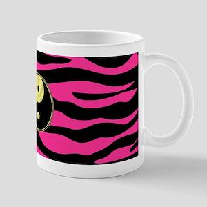 HOT PINK ZEBRA GOLD YIN-YANG Mugs