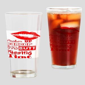 cancer kiss butt Drinking Glass