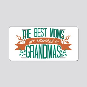 Promoted to Grandma Aluminum License Plate
