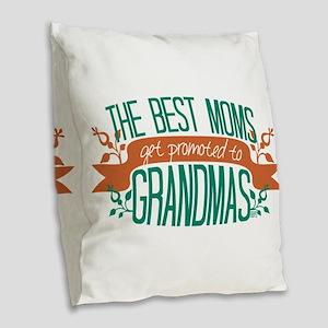 Promoted to Grandma Burlap Throw Pillow