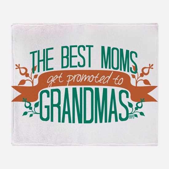 Promoted to Grandma Throw Blanket