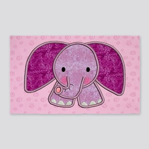 Purple Elephant 3'x5' Area Rug