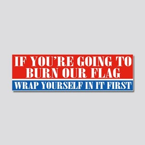 Flag Burners Car Magnet 10 X 3