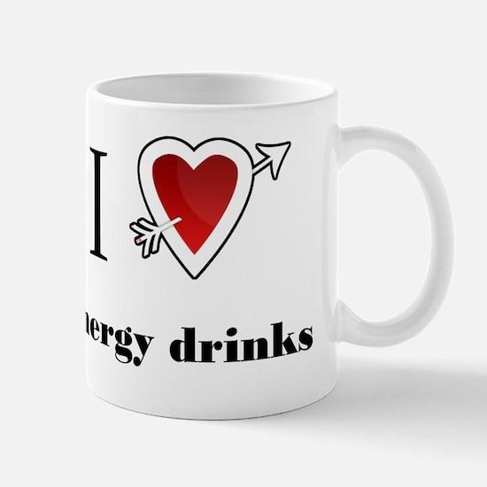 l love energy drinks hea Mug