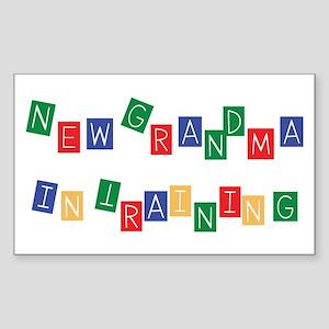 New Grandma In Training Rectangle Sticker