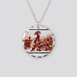 Roman Centurion in battle Necklace Circle Charm