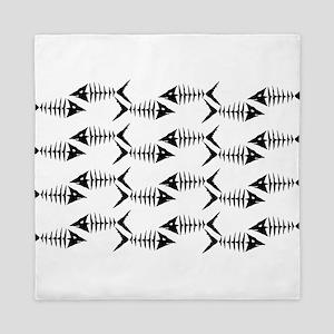 Fish Skeletons Queen Duvet