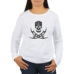 Klingon Skull and Bat' Women's Long Sleeve T-Shirt