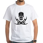 Klingon Skull and Bat'leths White T-Shirt