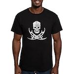 Klingon Skull and Bat' Men's Fitted T-Shirt (dark)