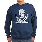Klingon Skull and Bat'leths Sweatshirt (dark)