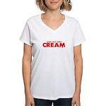 CREAM Women's V-Neck T-Shirt