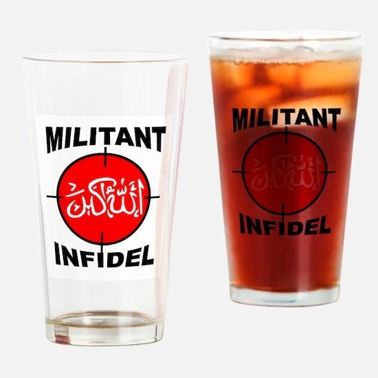 MILITANT Drinking Glass