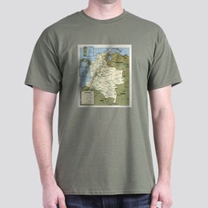 Politic map Colombia Dark T-Shirt