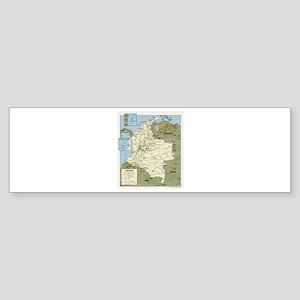 Politic map Colombia Bumper Sticker