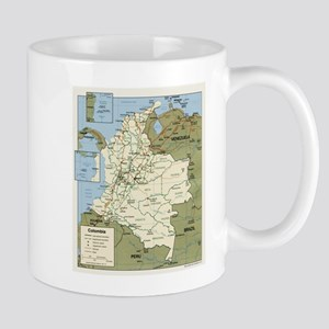 Politic map Colombia Mug
