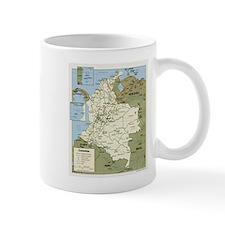 Politic map Colombia Mug
