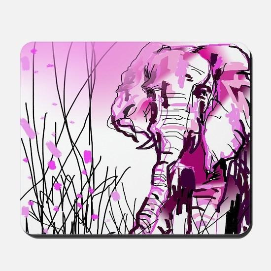 pink elephant Mousepad