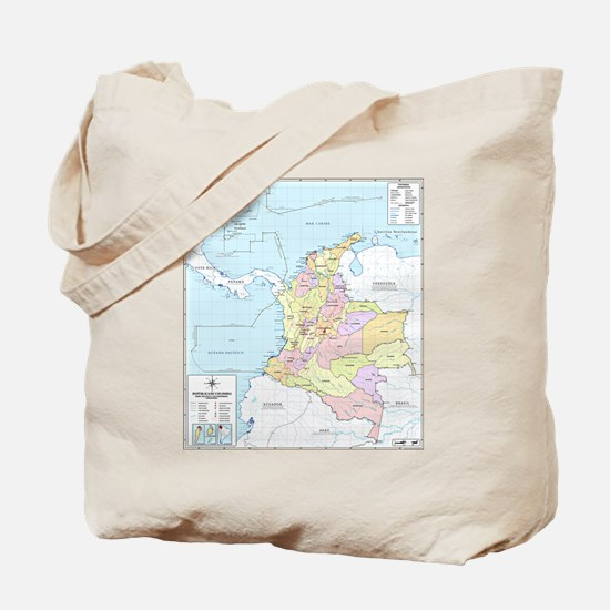 Colombia mapa official Tote Bag