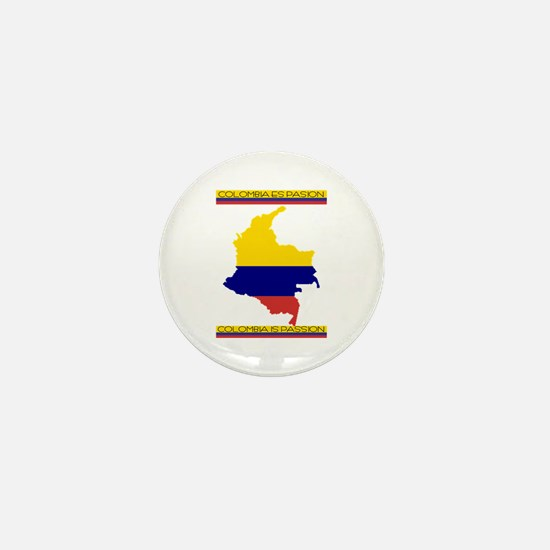 Map Colombia es pasion Mini Button