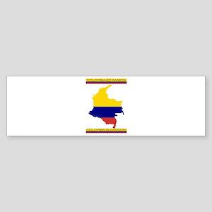 Map Colombia es pasion Bumper Sticker