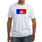 weed sports logo Fitted T-Shirt