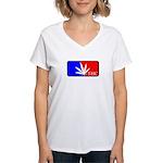 weed sports logo Women's V-Neck T-Shirt
