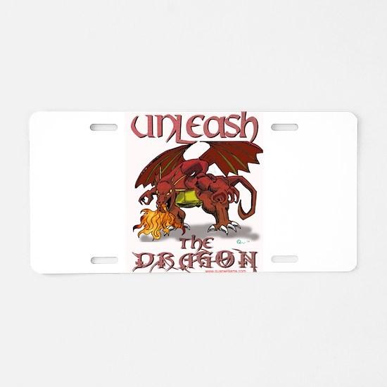 Unleash The Dragon Aluminum License Plate