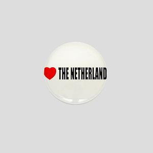 I Love The Netherlands Mini Button