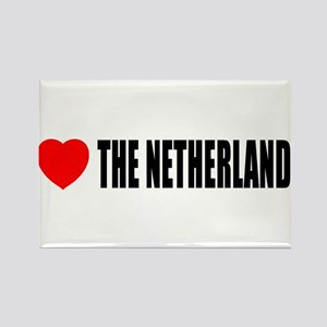I Love The Netherlands Rectangle Magnet