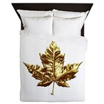 Gold Canada Souvenir Queen Duvet