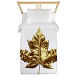 Gold Canada Souvenir Twin Duvet