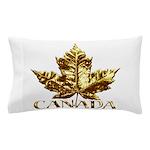 Gold Canada Souvenir Pillow Case