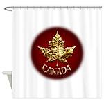 Gold Canada Souvenir Shower Curtain