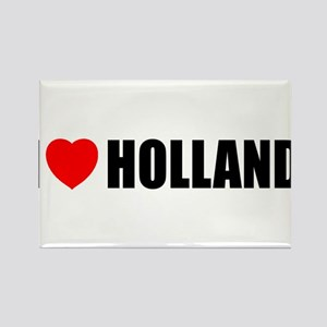 I Love Holland Rectangle Magnet
