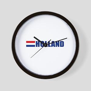 Holland Flag II Wall Clock