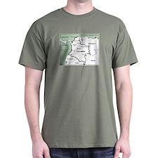 Mapa de Colombia Dark T-Shirt