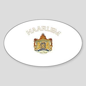 Haarlem, Netherlands Oval Sticker