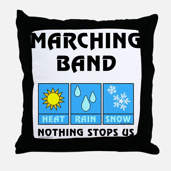 Marching Band Throw Pillow