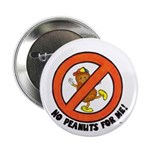 "No Peanuts for Me! 2.25"" Button (10 pack)"