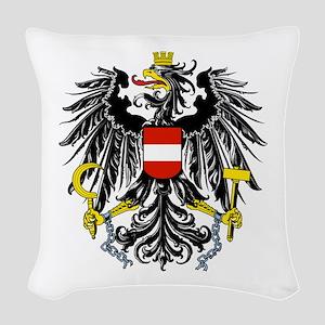 Austria Coat of Arms Woven Throw Pillow