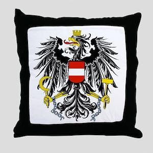 Austria Coat of Arms Throw Pillow