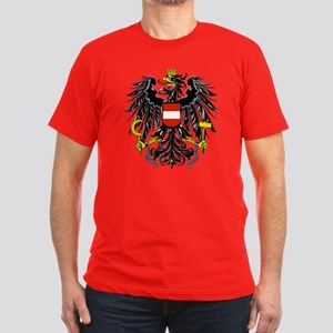 Austria Coat of Arms Men's Fitted T-Shirt (dark)