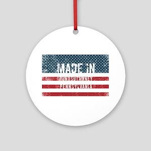 Made in Punxsutawney, Pennsylvania Round Ornament